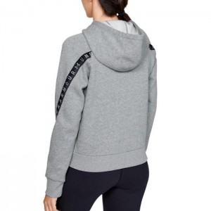 Bluza z kapturem damska UA TAPED FLEECE FZ 1352745-035 UNDER ARMOUR