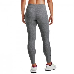 Legginsy treningowe damskie FAVOURITE WORDMARK LEGGINS 1356403-090 UNDER ARMOUR