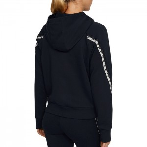Bluza z kapturem damska UA TAPED FLEECE FZ 1352745-001 UNDER ARMOUR