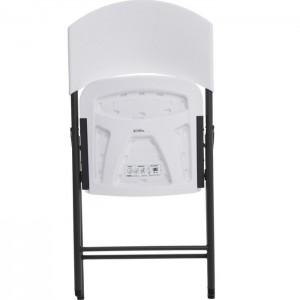 Krzesło składane półkomercyjne 2810 LIFETIME Biały Granit