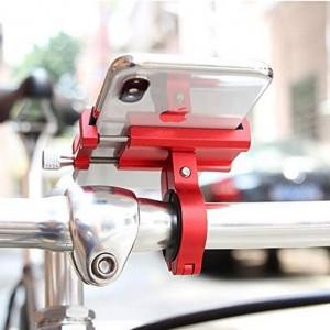 Aluminiowy uchwyt na telefon na kierownicę uniwersalny X-81 Red