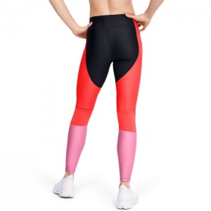 Legginsy treningowe HeatGear PERF IINSET GRAPHIC 1351725-002 UNDER ARMOUR
