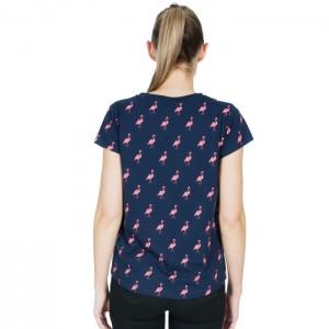 Koszulka damska CAROLYN TRESPASS Navy Flamingo