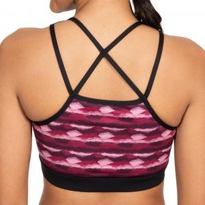 Biustonosz sportowy damski ESME TP75 TRESPASS Berry Print