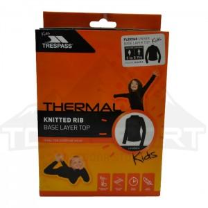 Koszulka termoaktywna dziecięca FLEX360 TRESPASS Black