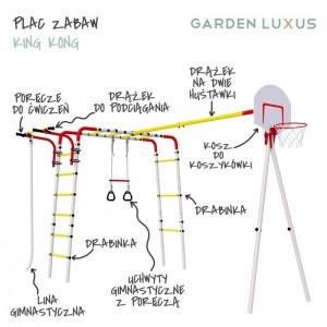 Plac zabaw z koszem do koszykówki KING KONG GL-08 GARDEN LUXUS