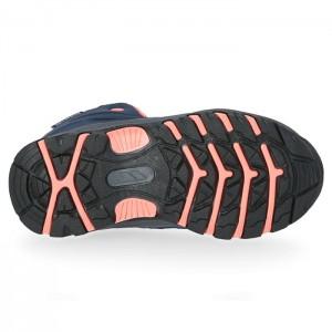 Buty trekkingowe dziecięce GILLON TRESPASS Navy/Neon Coral