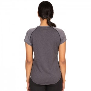 Koszulka treningowa damska MADDISON TP75 TRESPASS Dark Grey Stripe