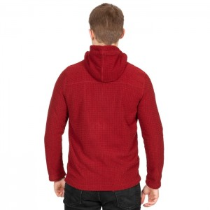 Polar męski z kapturem full-zip NAPPERTON TRESPASS Merlot