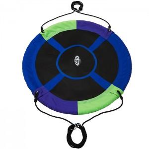 Huśtawka bocianie gniazdo NB5032 110cm NILS CAMP Green-Blue