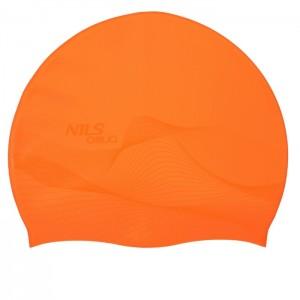 Czepek pływacki silikonowy G-TYPE MEN F202 NILS AQUA Pomarańczowy