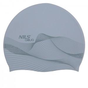 Czepek pływacki silikonowy G-TYPE MEN F210 NILS AQUA Szary