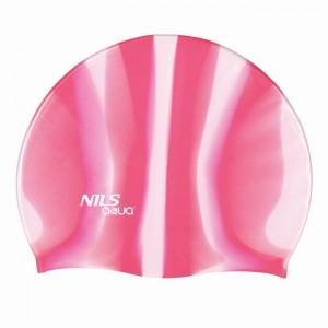 Czepek pływacki silikonowy MI3 NILS AQUA Zebra