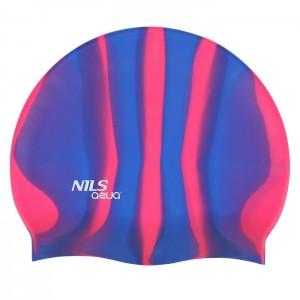 Czepek pływacki silikonowy MI7 NILS AQUA Zebra