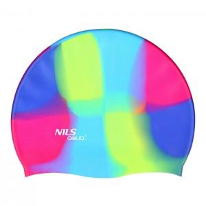 Czepek pływacki silikonowy MS53 NILS AQUA Multikolor