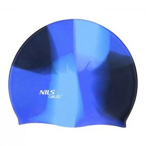 Czepek pływacki silikonowy MS82 NILS AQUA Multikolor