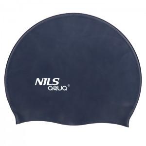Czepek pływacki silikonowy F248 NILS AQUA Granatowy