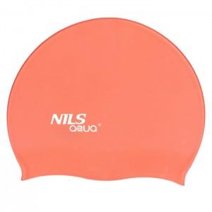 Czepek pływacki silikonowy G503 NILS AQUA Pomarańczowy