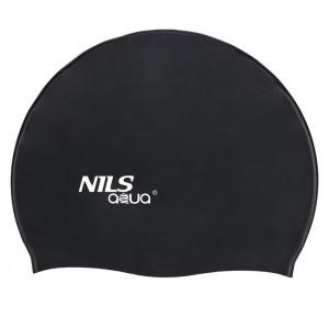 Czepek pływacki silikonowy SB14 NILS AQUA Czarny