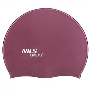 Czepek pływacki silikonowy SH77 NILS AQUA Purpurowy