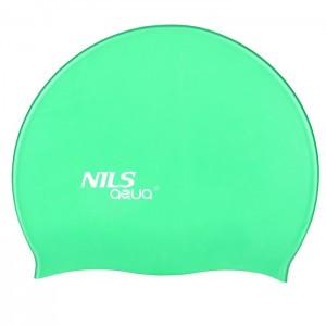 Czepek pływacki silikonowy SH86 NILS AQUA Zielony