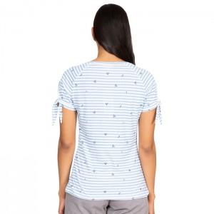 Koszulka damska PENELOPE TRESPASS White Denim Stripe
