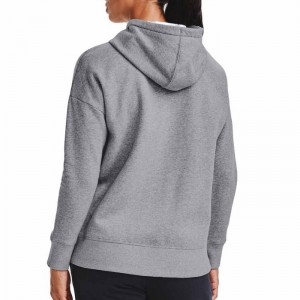 Bluza z kapturem damska RIVAL FLEECE FZ HOODIE 1356400-035 UNDER ARMOUR