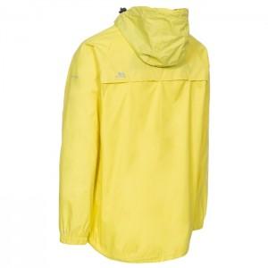 Kurtka przeciwdeszczowa męska pakowana QIKPAC X TP75 TRESPASS Yellow