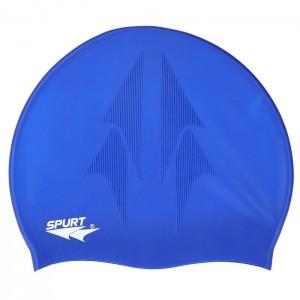 Czepek pływacki silikonowy z tłoczeniem F230 SPURT Jasny Niebieski