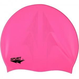 Czepek pływacki silikonowy z tłoczeniem SC16 SPURT Różowy