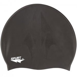 Czepek pływacki silikonowy z tłoczeniem SH80 SPURT Czarny
