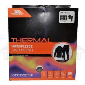 Komplet termiczny polarowy unisex THRILLER TRESPASS Black