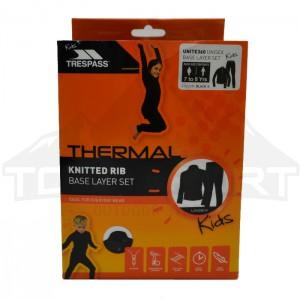 Komplet termoaktywny dziecięcy UNITE360 TP50 TRESPASS Black