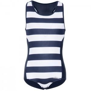 Strój kąpielowy jednoczęściowy dziewczęcy WAKELY TRESPASS Navy Stripe
