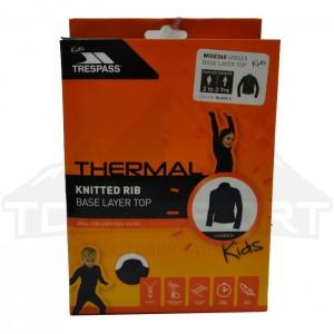 Koszulka termoaktywna dziecięca WISE360 TP50 TRESPASS Black
