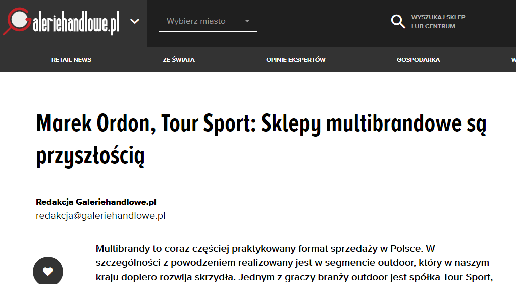 GalerieHandlowe o TourSport